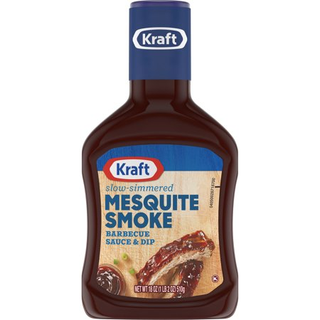 (4 Pack) Kraft Mesquite Smoke Barbecue Sauce, 18 oz Bottle (Tigers 4 Piece Barbecue)