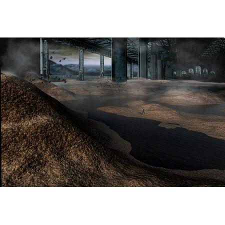 Canvas Print Warehouse Landscape Planet Futuristic Apocalyptic Stretched Canvas 10 x (Five Ten Warehouse Sale)