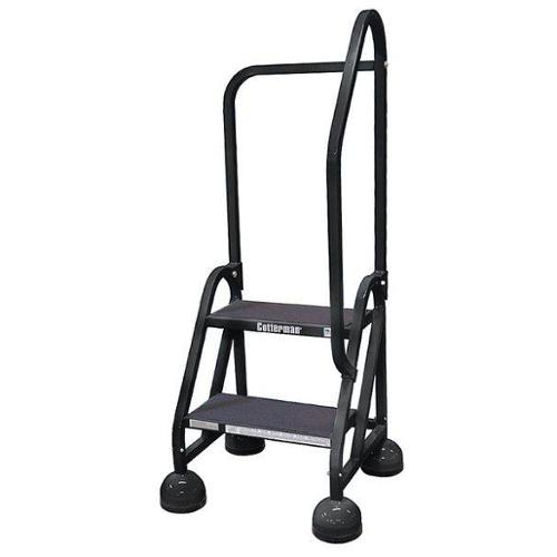 """Cotterman 18"""" H Steel Rolling Ladder, 450 lb. Load Capacity, ST-203 A2 C7 P5 by COTTERMAN"""