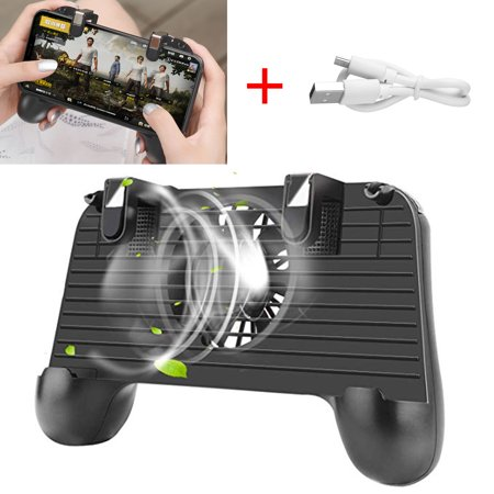 Mobile Game Controller with Cooling Fan Portable Charger Phone Triggers 4 in 1 Mobile Gamepad for Android iOS Mobile Joystick Compatible with All Games ()