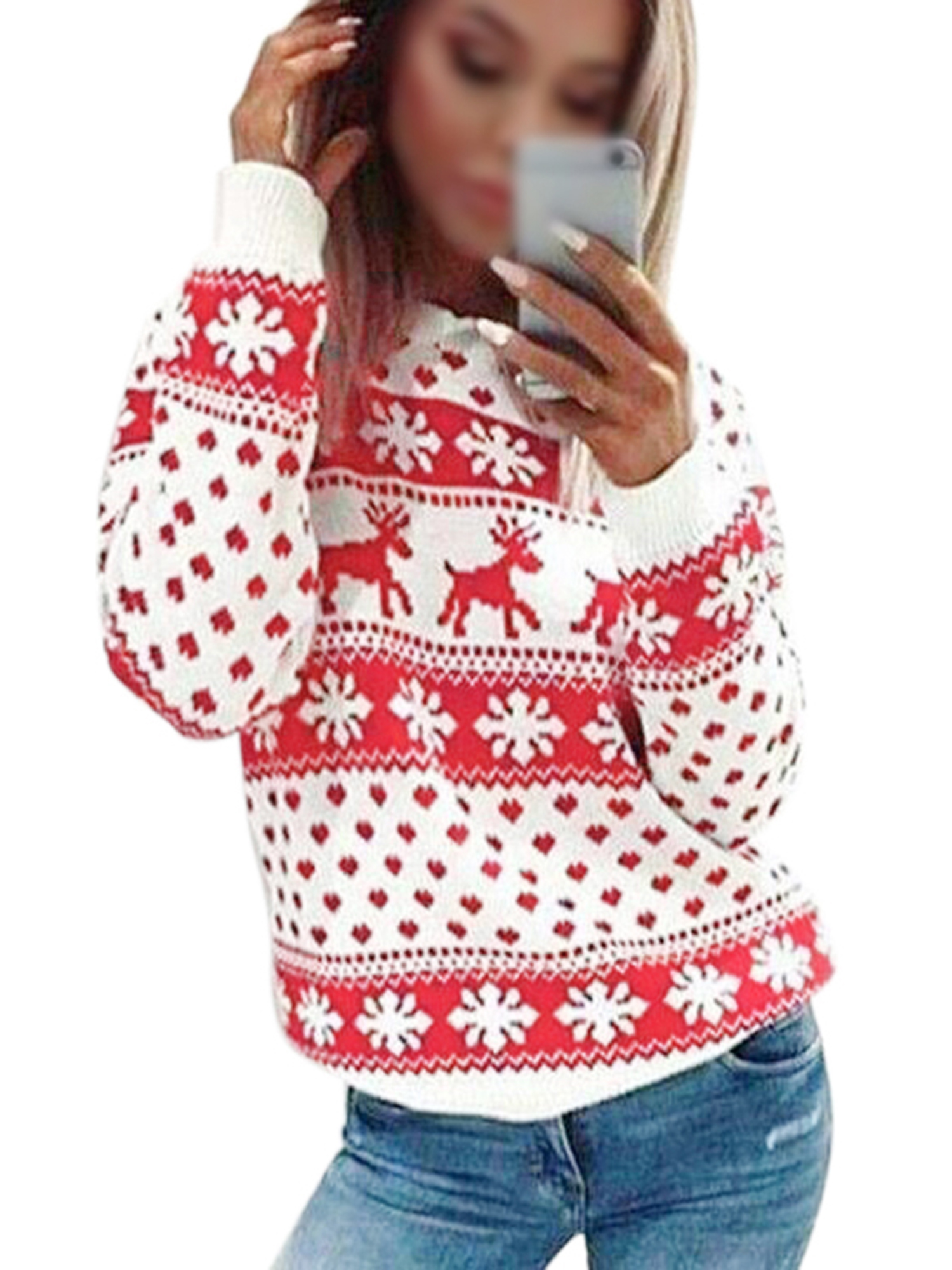 Blouses for Women,Womens Tops Casual Long Sleeve Elk Deer Sweatshirt Hooded Pullover Tops Blouse