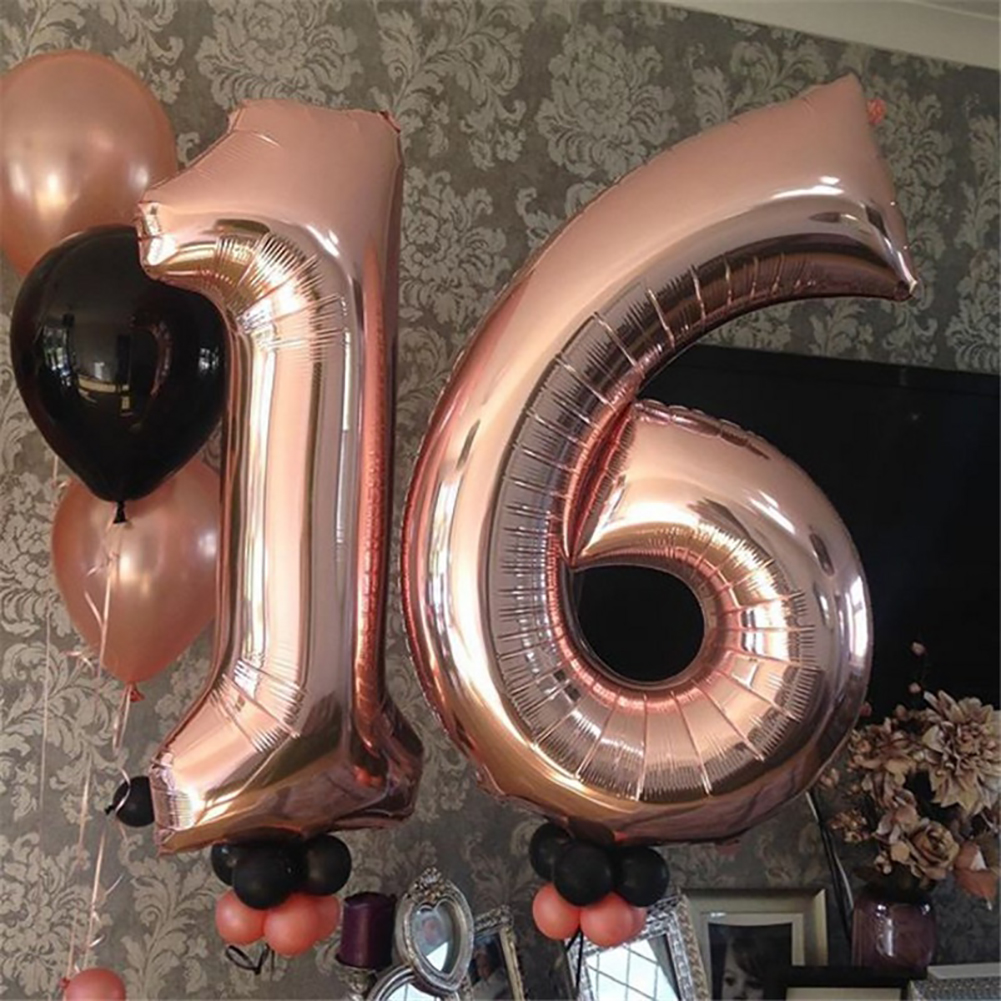 Heepo Foil Number Balloon 0-9 Helium Happy New Year Wedding Birthday Party Decoration