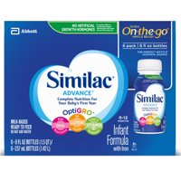 Similac Advance Baby Formula To Support Brain & Eyes, 24 Count Ready-to-Feed, 8-fl-oz Bottle