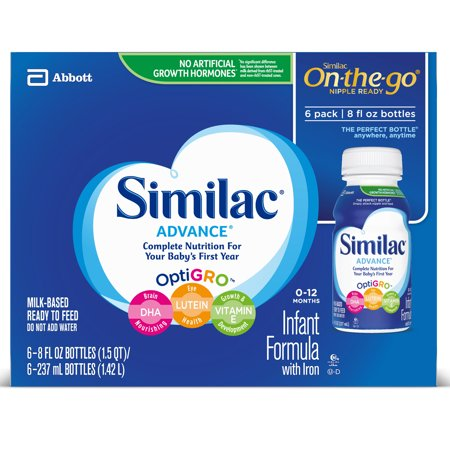 Similac Advance Infant Formula with Iron Baby Formula 8 fl oz Bottles (Pack of