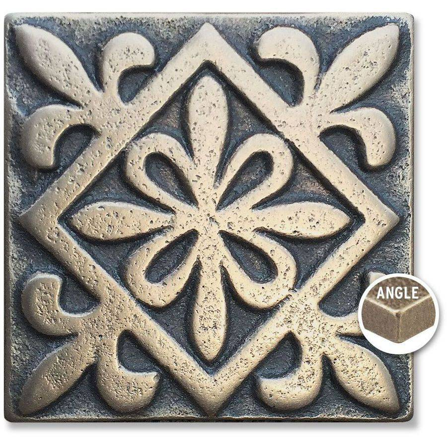 "Arizona Hot Dots Inc. Decorative Metal Accent Tiles, 2"" x 2"" Square Dots"