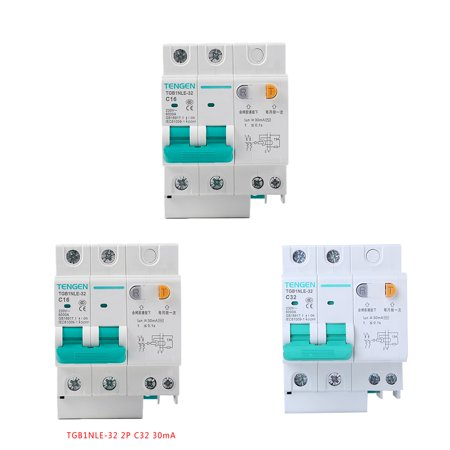 babydream1 230V 2P leakage protective breaker with Overcurrent Protection Over Short Current Leakage Protector - image 8 de 9