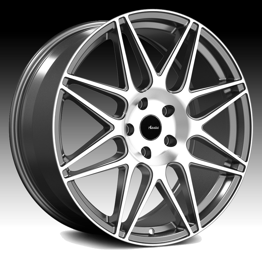Advanti Racing CL Classe Machined Grey 18x8 5x100 45mm (CL8851045G)