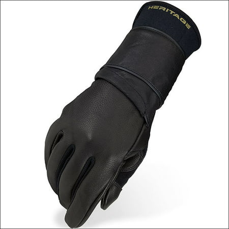 Heritage Riding Gloves - 10 SIZE HERITAGE PRO 8.0 BULL RIDING GLOVES HORSE EQUESTRIAN (LEFT HAND)