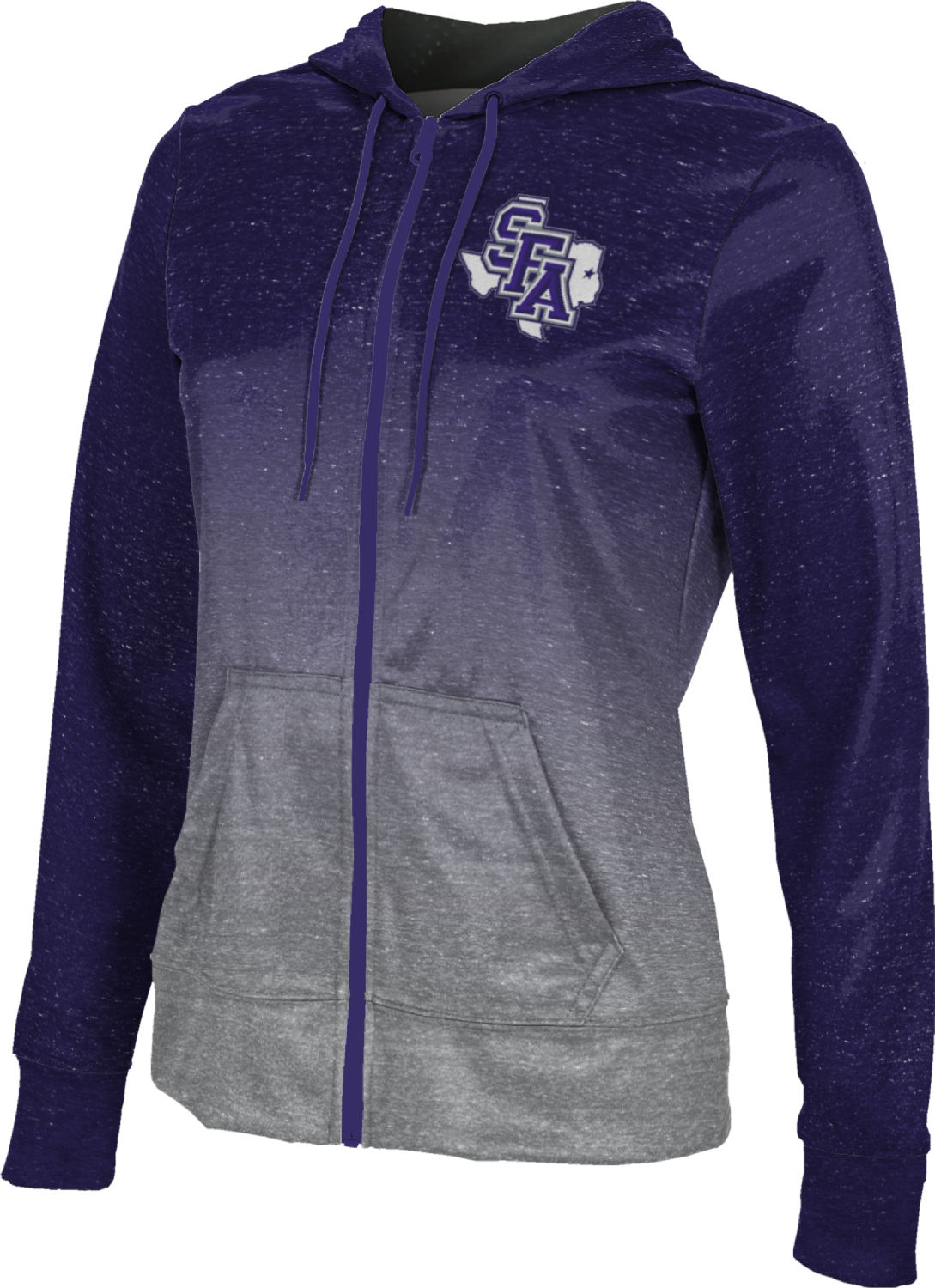 ProSphere Girls' Stephen F. Austin State University Ombre Fullzip Hoodie
