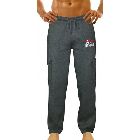 8192776976647f x-2 - x-2 men s fleece active joggers sweatpants tracksuit running athletic  pants 5 pockets black medium - Walmart.com
