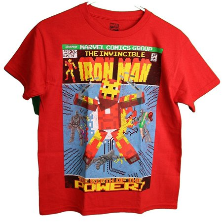 Marvel The Invincible Iron Man Comic Book Cover Youth Boy's T-Shirt](Iron Man Clothes For Kids)