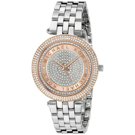 7260ca9cf370 Michael Kors - Women s Mini Darci MK3446 Silver Stainless-Steel Quartz Fashion  Watch - Walmart.com