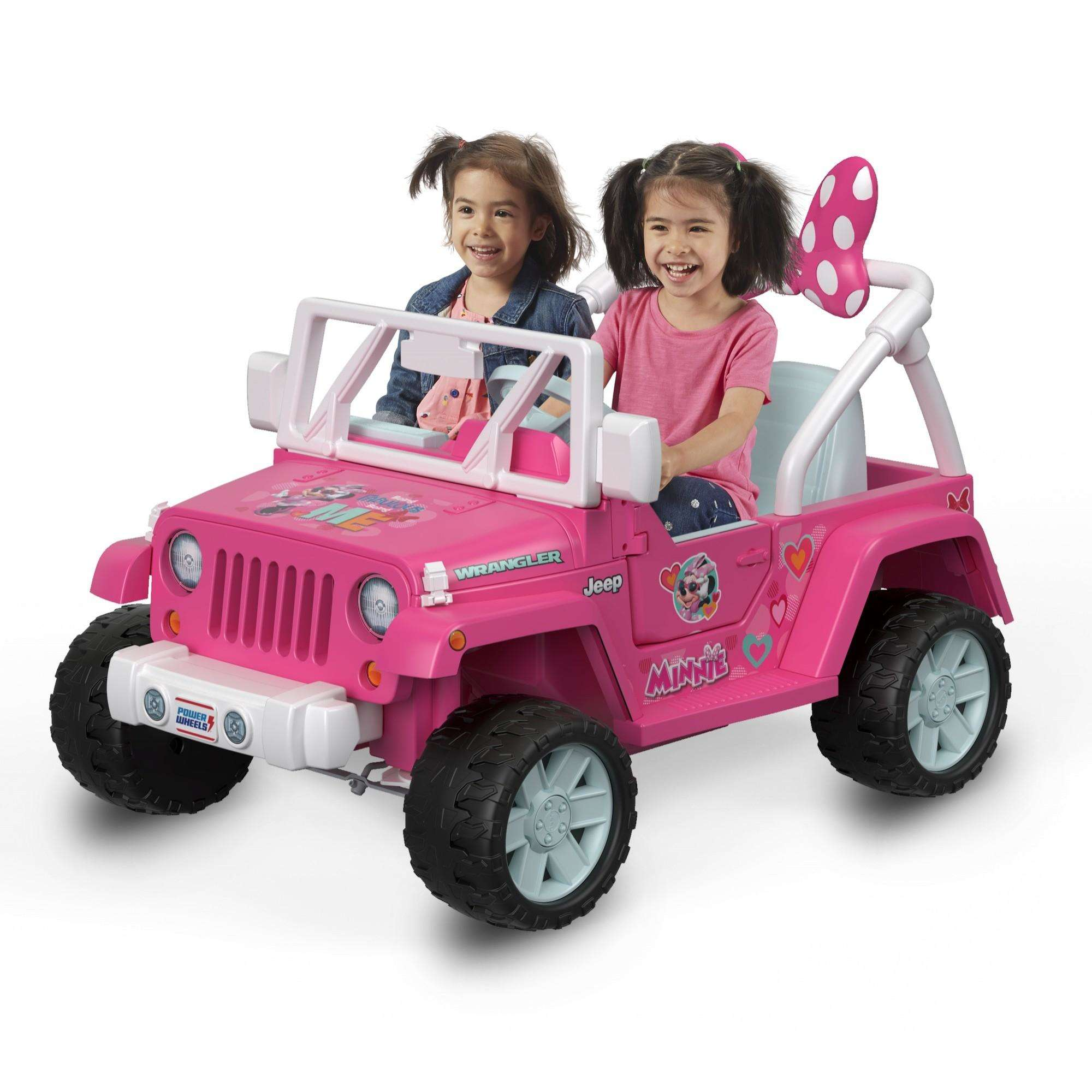 Power Wheels Disney Minnie Mouse Happy Helpers Jeep Wrangler by Fisher-Price