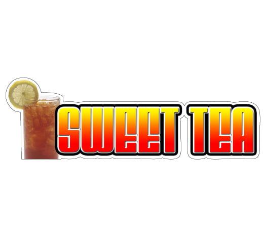 Sweet Tea Concession Restaurant Food Truck Die-Cut Vinyl Sticker
