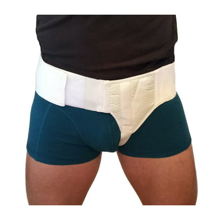 FlexaMed Left Side Inguinal Hernia Support Truss Belt with Compression Pad