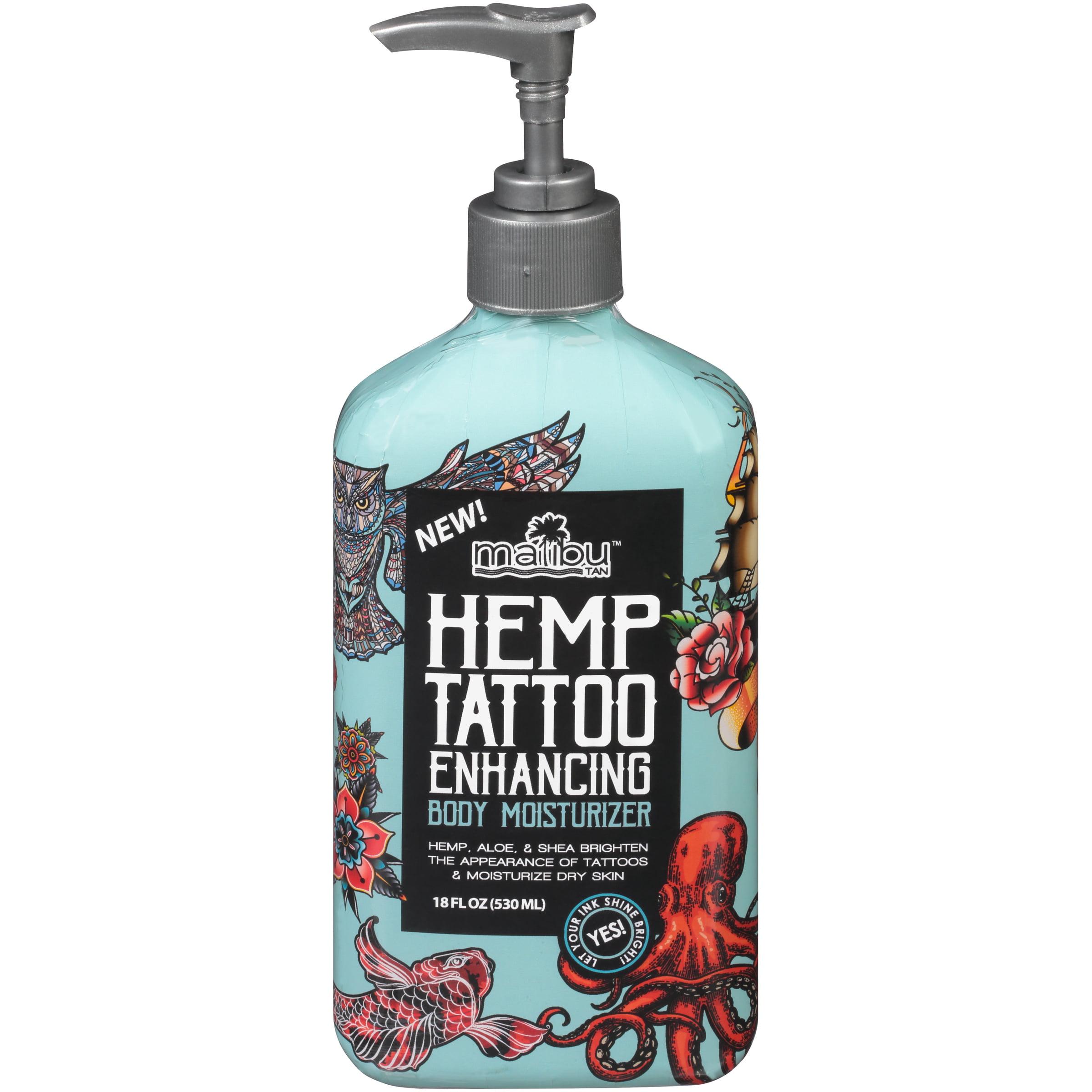 Malibu Tan Hemp Tattoo Enhancing Body Mosisturizer 12 Fl Oz