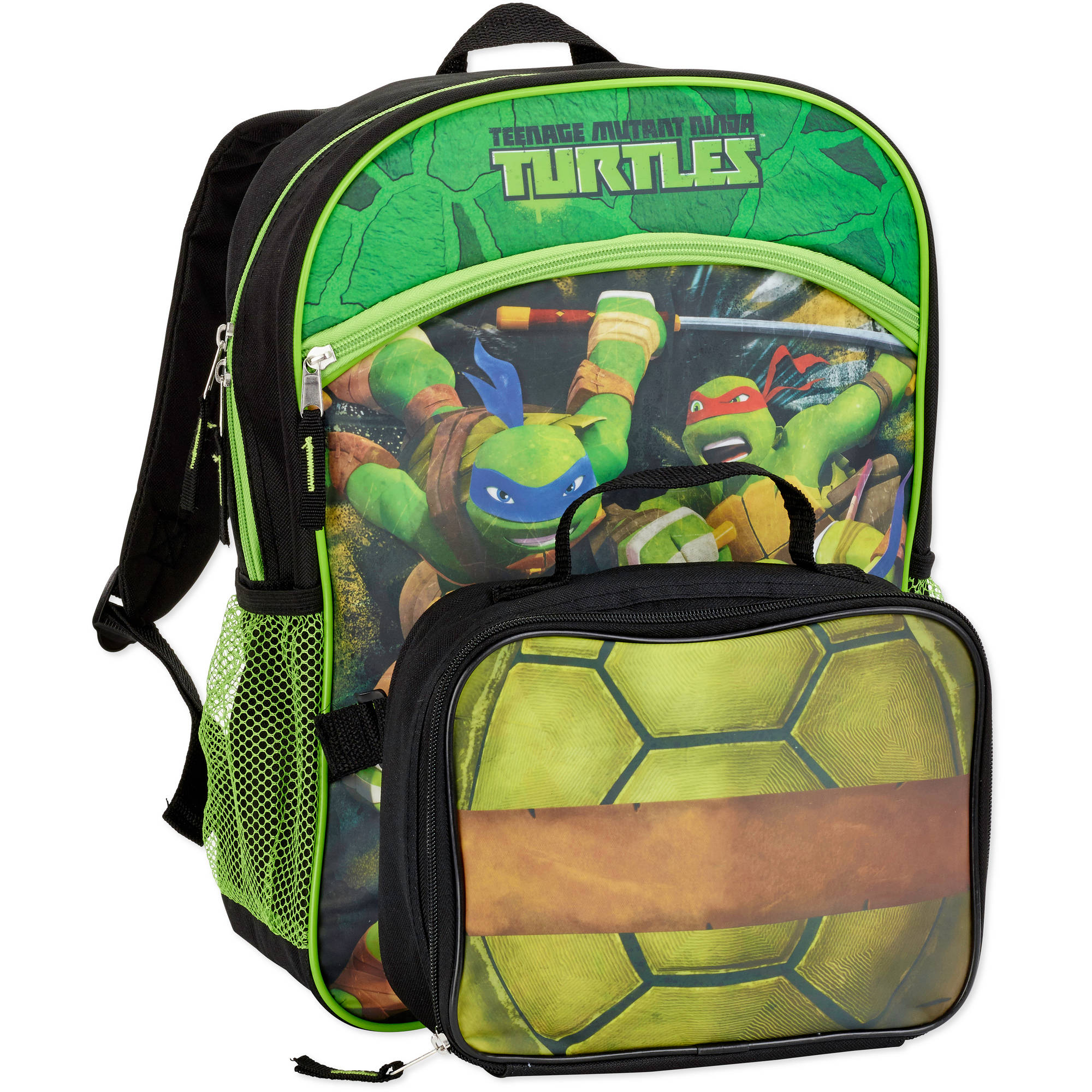 """Teenage Mutant Ninja Turtles Lunch In Action 16"""" Backpack with Lunch Tote"""