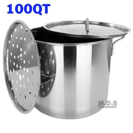 Stock Pot Stainless Steel 100qt Steamer Vaporera Tamalera For Tamales 25gallon