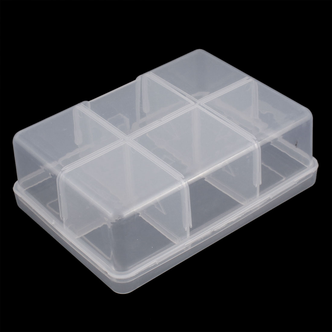 Unique Bargains Jewelry Hardware Plastic 6 Slots Storage Case Box Organizer Conatiner Clear for Home Essential
