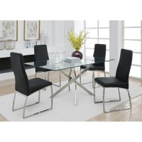 Coaster Furniture Nathan Contemporary Glass Topped Dining Table