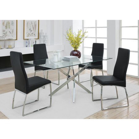 Coaster Furniture Contemporary Table (Coaster Furniture Nathan Contemporary Glass Topped Dining Table)