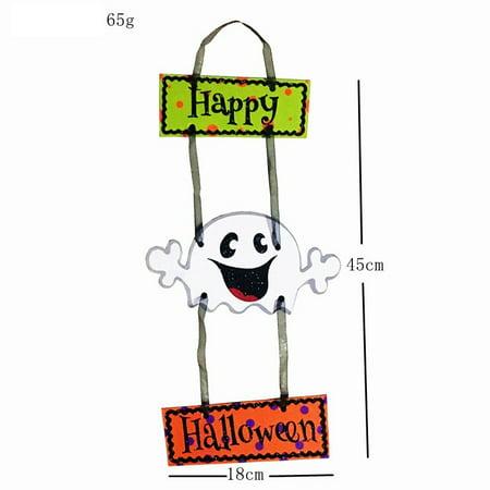 JuDan Halloween Decor Hang in Door Pumpkin Pendant Doll Puppy Party KTV Showcase Gift
