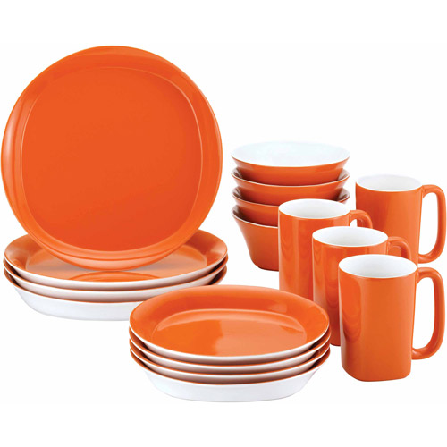 Rachael Ray 16-Piece Dinnerware Set, Round Square