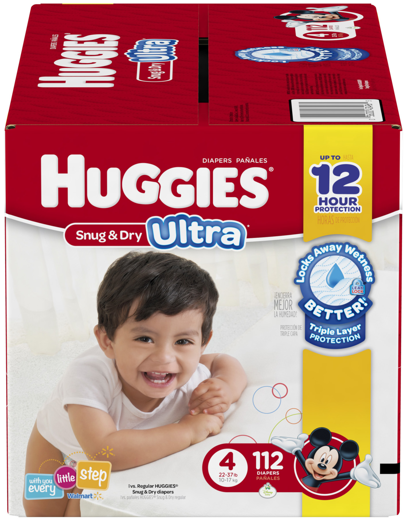 HUGGIES Snug & Dry Ultra Diapers, Size 4, 112 Diapers - Walmart.com