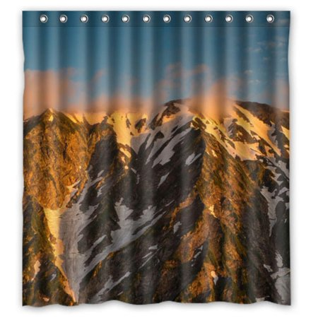 DEYOU Mountains Japan Alps Nature Shower Curtain Polyester Fabric Bathroom Size 60x72 Inch