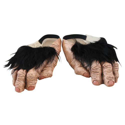 Chimp Feet Shoe Covers Costume Accessory