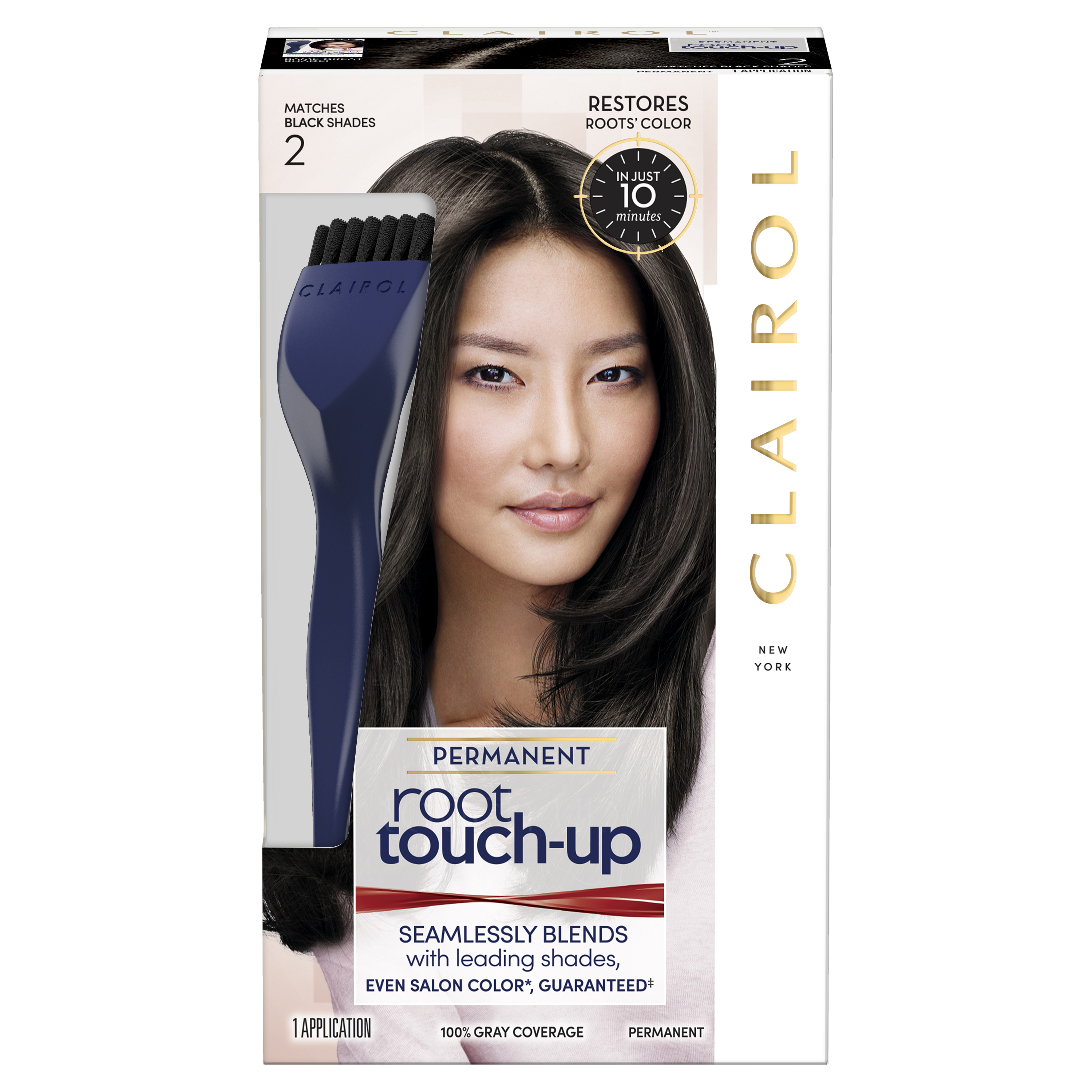 Clairol Nice 'n Easy Root Touch-Up Permanent Hair Color, Black, 2