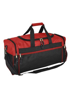 "DALIX 21"" Blank Sports Duffle Bag Gym Bag Travel Duffel with Adjustable Strap in Red"
