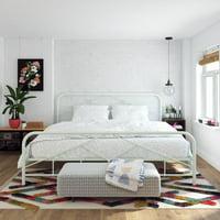 Novogratz Francis Farmhouse Metal Bed, Multiple Sizes and Colors