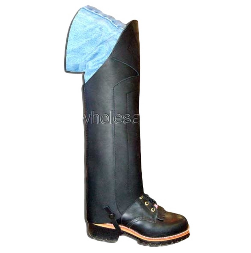B Bar B Half Chaps Adult Motorcycle Leather Brass Zipper ...