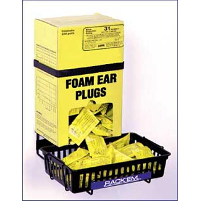 RackEm Racks 4001 Ear Plug Dispenser Box Rack with Anti-Spill Tray