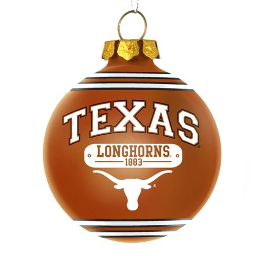 Texas Longhorns Official NCAA 3 inch x 3 inch  2014 Year Plaque Ball Ornament by Forever Collectibles