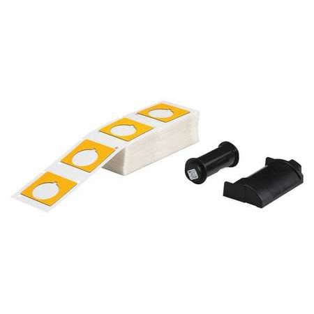 BRADY Raised Panel Label,Yellow,1-51/64 In. W PTLEP-169-593-YL