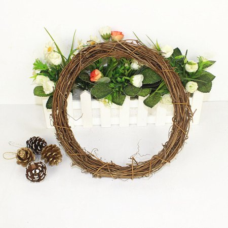 Halloween Yarn Wreath Diy (DIY Crafts Natural Grapevine Wreaths Garland Door Window Hanging Wedding Decor;DIY Crafts Natural Grapevine Wreaths Garland Door Window Hanging)