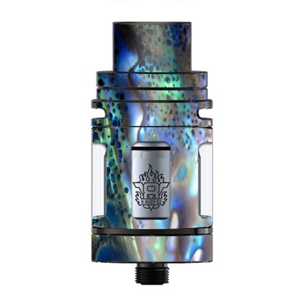 - Skin Decal Vinyl Wrap for Smok TFV8 X-Baby Tank Vape skins stickers cover / Abalone Pearl Sea Shell Green Blue