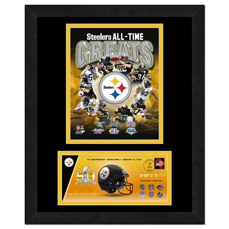 Pittsburgh Steelers   Commemorative Super Bowl Cover And Photo With Envelope  All Time Greats