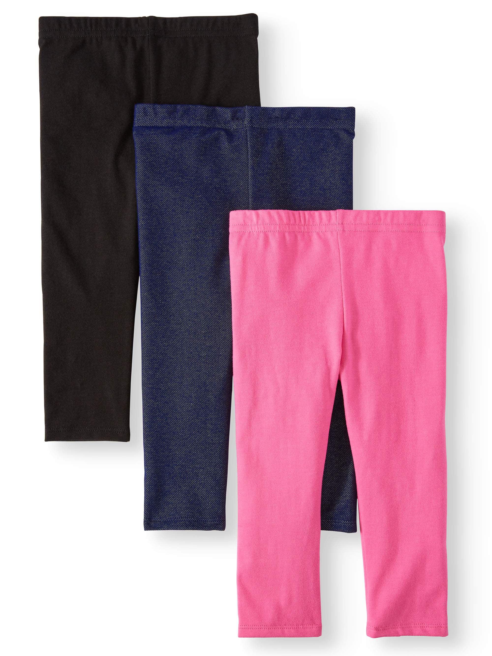 841aef21 Garanimals - Solid Capri Leggings, 3pc Multi-Pack (Toddler Girls) -  Walmart.com