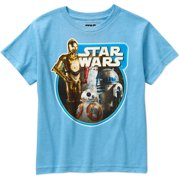 Star Wars-lucas Star Wars Boys Tri Bots Graphic Tee