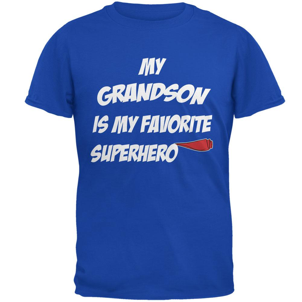 Grandson is My Superhero Royal Adult T-Shirt by