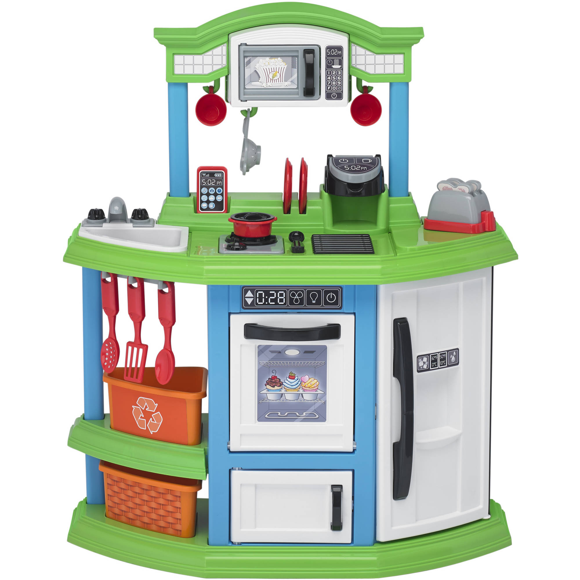 American Plastic Toys Cozy Comfort Kitchen ft. 22 Accessories