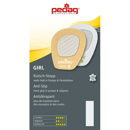 pedag® GIRL Self Adhesive Leather Forefoot Grip for Pumps and Sandals, Tan, One Size Fits All
