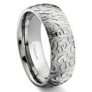Titanium Kay 7 Degree Jaguar Skin Pattern Titanium Comfort Fit Wedding Band Ring Sz 10.0