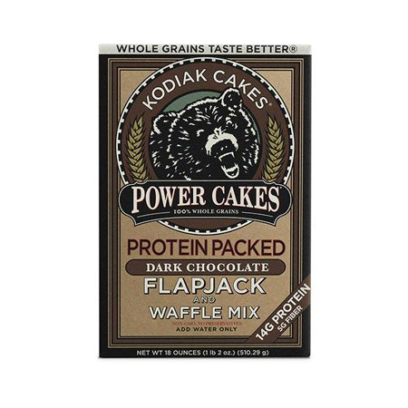 (2 Pack) Kodiak Cakes Power Cakes, Dark Chocolate Pancake and Waffle Mix, 18 Oz