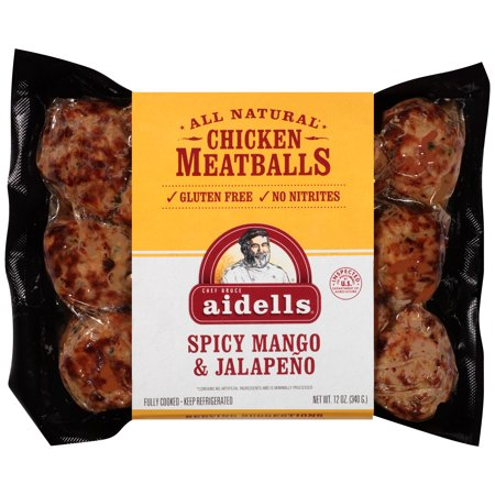 Image of Aidells ® Spicy Mango & Jalape ±o Chicken Meatballs 12 oz. Pack