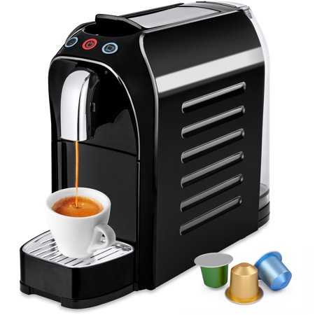 Best Choice Products Automatic Programmable Espresso Single-Serve Coffee Maker Machine with Interchangeable Side Panels, Nespresso Pod Compatibility, 2 Brewer Settings, Energy Efficiency (Best Coffee Brand To Drink Black)