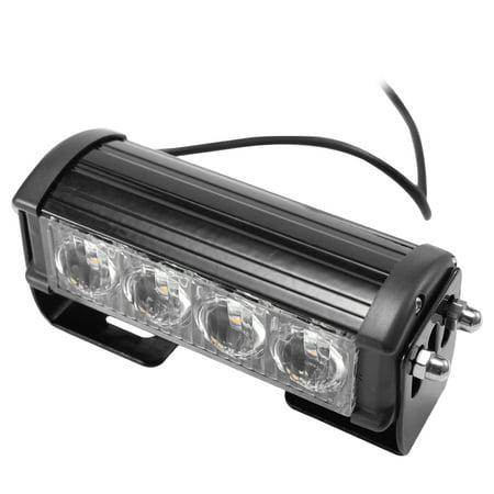 2PCS 7-Flashing Mode 12V 4 LED Strobe Flash Grille Light Warning Hazard Emergency Lamp Car Truck Waterproof - image 3 of 7